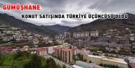 Gümüşhane konut satışında Türkiye üçüncüsü oldu