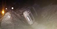 Gümüşhanede yolcu minibüsü yan yattı: 7 yaralı
