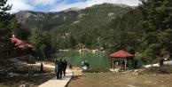 Limni gölüne ziyaretçi akını