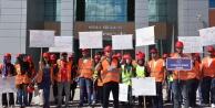 Üniversite öğrencilerinden iş güvenliği yürüyüşü