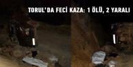 Torul'da trafik kazası: 1 Ölü, 2 Yaralı