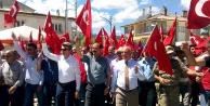 Kösenin tüm köylerinden darbe karşıtı yürüyüş