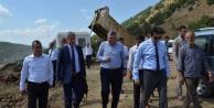 Vali ve Vekil Kelkitte sulama barajı inşaatlarını inceledi
