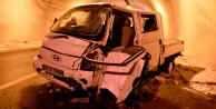 Gizli buzlanma Gümüşhane'de kazaya sebep oldu: 2 yaralı