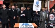AGD Gümüşhane#39;de Mısır#39;daki Hukuksuzlukları Protesto Etti