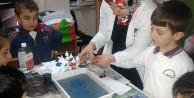 Çocuklar yerli malı haftasında EBRU yaptı