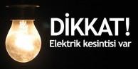 Dikkat: Kent merkezinde aralıklı 2 gün elektrik kesintisi yapılacak