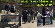 Gümüşhane Belediyesinden Öğrencilere Sıcak Çorba İkramı