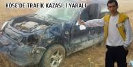 Köse'de Trafik Kazası: 1 Yaralı