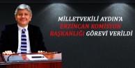 Milletvekili Aydına Erzincan Komisyon Başkanlığı Görevi Verildi
