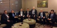 Milletvekili Üstün ve Başkan Çimen İl Bank yöneticileri ile biraraya geldi