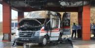 Şiran'da Ambulans Cayır Cayır Yandı