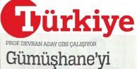 Türkiye Gazetesi, Yusuf Devranın hükümete verdiği önemli desteği yazdı