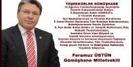 Üstünden Türkiye Üçüncüsü Teşkilata Teşekkür