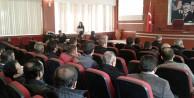Yükümlülere madde bağımlılığı ve korunma konulu seminer verildi