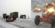 Ziganada kar ulaşımı olumsuz etkiliyor