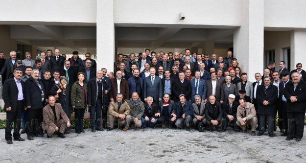 Vali Yavuz Köy ve Mahalle Muhtarlarıyla bir araya geldi