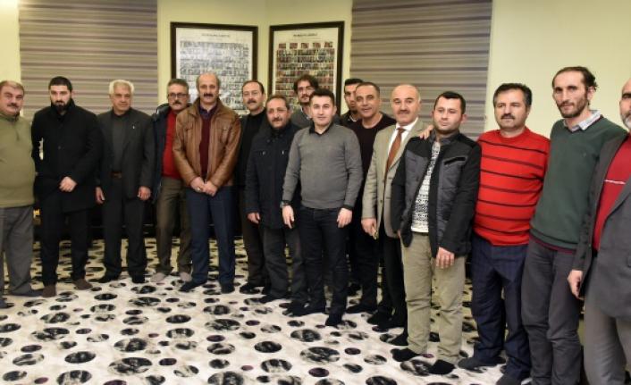 Başkan Aygün Gazeteciler Gününde gazetecilerle buluştu