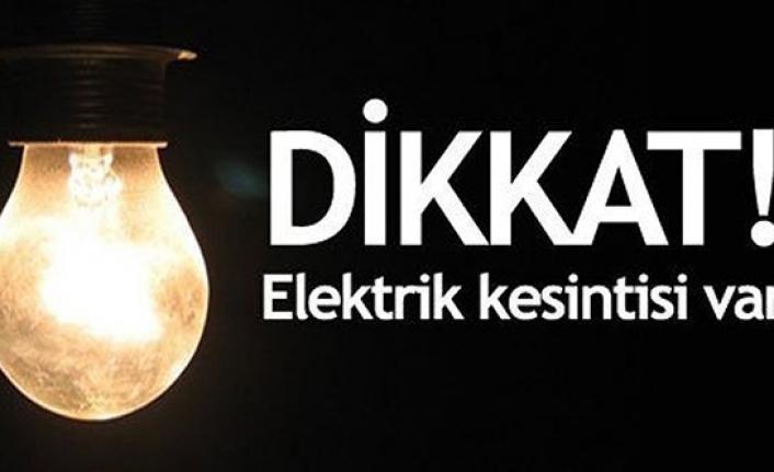 Dikkat! Cumartesi tüm ilde elektrik kesintisi var