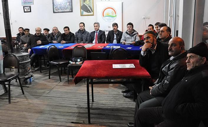 Tarım teşkilatı köylerde gece eğitimi başlattı