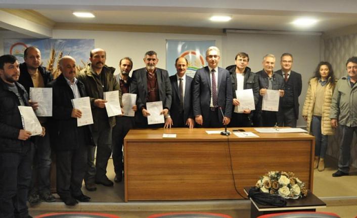 Gümüşhane'de 12 arıcıya organik tarım sertifikası verildi