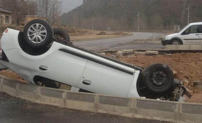 Tekke'de yine kaza: 1 yaralı