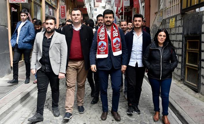 CHP Gençlik Kolları Genel Başkanı Emre Yılmaz Gümüşhane'de