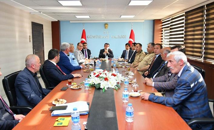 Gümüşhane'de Seçim Güvenliği Toplantısı Gerçekleştirildi