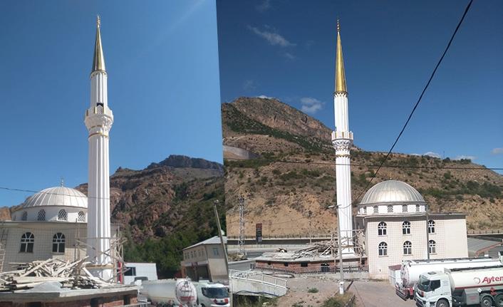 Eskibağlar camii minaresine kavuştu
