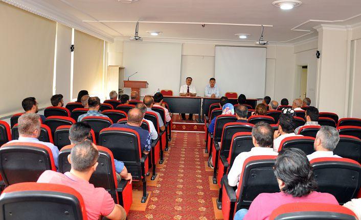 Milli Eğitim Müdürü Seydi Doğan Okul Müdürleri İle Toplantı Yaptı