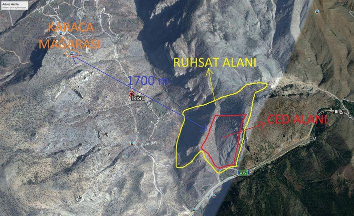 TEMA'dan Karaca Mağarası karşısındaki mermer ocağına tepki çağrısı