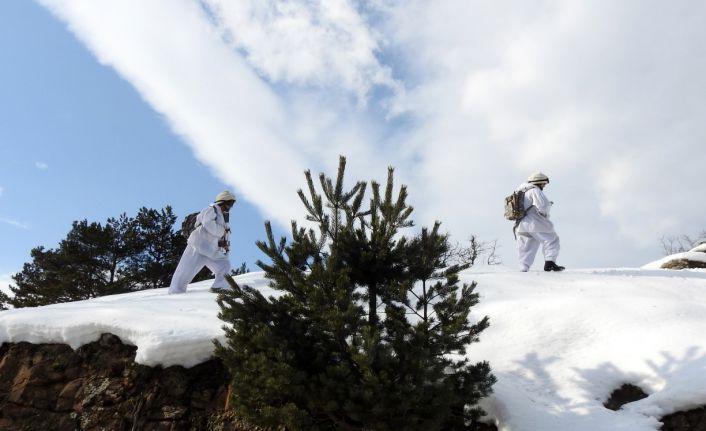 Gümüşhane dağlarında kış operasyonları devam ediyor