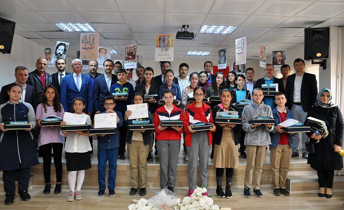 Bu yarışmada hem veliler hem öğrenciler ödül aldı