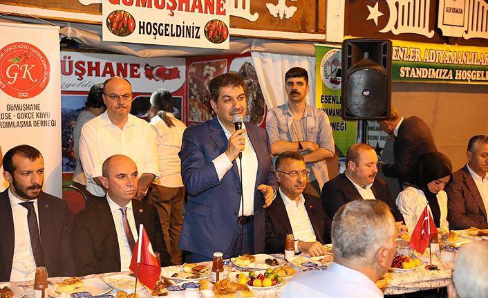 Gümüşhaneliler Esenler'de Cumhurbaşkanı Yardımcısı Fuat Oktay'ı ağırladı