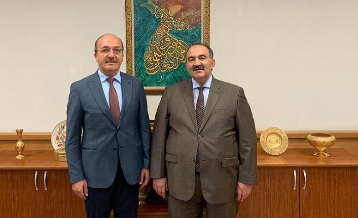 Rektör Zeybek, İŞKUR Genel Müdürü Uzunkaya ile bir araya geldi