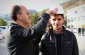 Genç mühendis adayları baret giydi