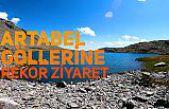 Artabel Göllerinde yılın en kalabalık yürüyüşü