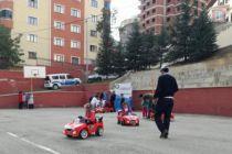 Çocuk sevgi evlerine trafik eğitimi