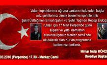 Torul Belediyesi şehitler için Kur'an okutacak