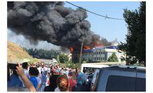 Gümüşhaneli hemşehrimizin fabrikasında büyük yangın