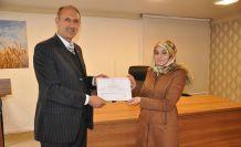 Mantar Yetiştiriciliği kursiyerleri sertifikalarını aldı