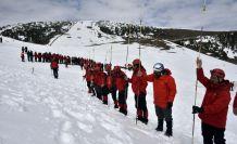 Zigana Dağında 100 personelle çığ tatbikatı