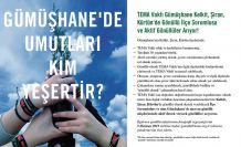 TEMA Kelkit, Şiran ve Kürtün ilçelerinde temsilci arıyor