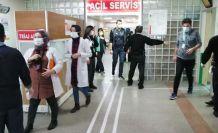 Gümüşhane Devlet Hastanesinde koronavirüs tatbikatı