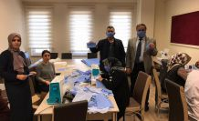 Şiran'da maske üretimi başladı