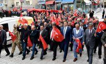 Torul'da Mehmetçiğe destek yürüyüşü