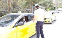 Gümüşhane'de ticari taksiler denetlendi