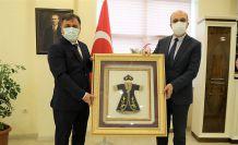 Başkan Çimen'den Rektör Zeybek'e hayırlı olsun ziyareti