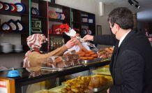 Başkan Özdemir'den kadın esnafa ziyaret