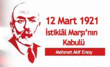 İstiklal Marşı'nın Kabulü ve Mehmet Akif Ersoy'u Anma Günü mesajları